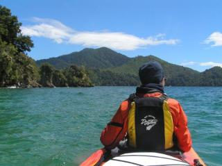 1.5 tage Kayak tour mit uebernachtung Marlborough sounds, suedinsel explorer