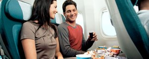 (c) Air New Zealand dining economy class