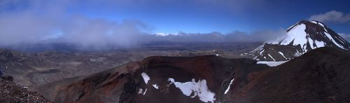 """Tongariro Park panorama"" by Markrosenrosen - Own work. Licensed under CC BY-SA 3.0 via Wikimedia Commons - http://commons.wikimedia.org/wiki/File:Tongariro_Park_panorama.jpg#mediaviewer/File:Tongariro_Park_panorama.jpg"