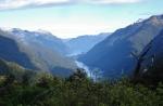 Blick vom Wilmot Pass auf den Doubtful Sound