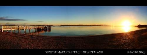 Sunrise Maraetai Beach, New Zealand