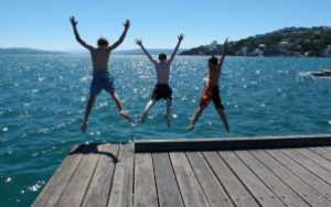 wellington harbour cool off